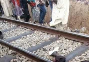 Train Crushes Man To Death, Splits Him Into Two In Niger State (Graphic Photos)